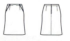 マーメードラインのスカート