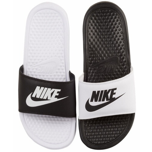 394dd5a522d5 Buy nike slippers black and white