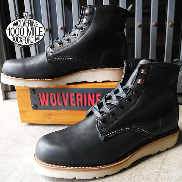 5284da613b7 It is ウルヴァリンプレストウィック WOLVERINE PRESTWICK 1000MILE WEDGE men work boots  casual race up boots W00914(BLACK) W00915(MUD) evid ...
