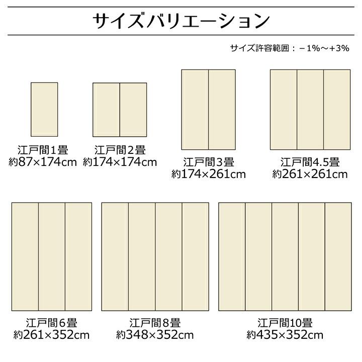 江戸間1畳(約87×174cm)