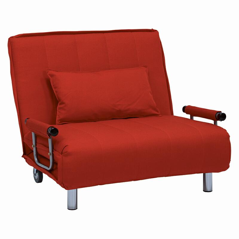 ソファベッド リクライニングソファ 赤