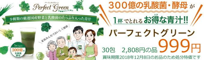 パーフェクトグリーン 乳酸菌の入った青汁 在庫処分特価 999円