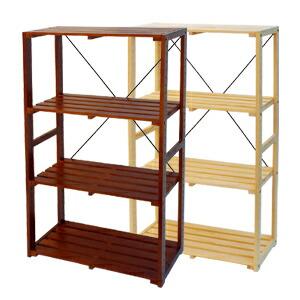 木製ラック4段