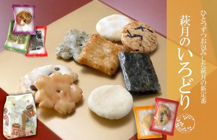 【送料無料】「萩月詰合せ」贅沢な11種類計49袋入り 3,240円(税込)