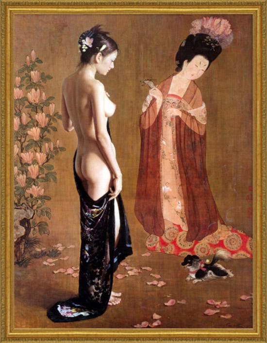 japanese nude oil paintings