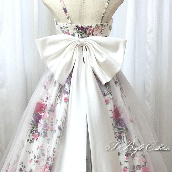 4811cdc503699 楽天市場  期間限定セール  ベルト付入荷  大きなリボン ドレス ...