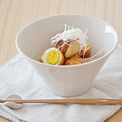 丼ぶり ホワイト 台形マルチボウル(M)
