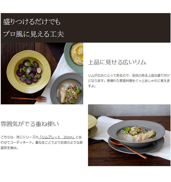 リムスープ皿 20cm 赤土 コリーヌ
