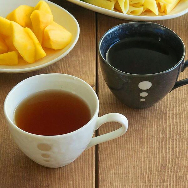 水玉 コーヒーカップ