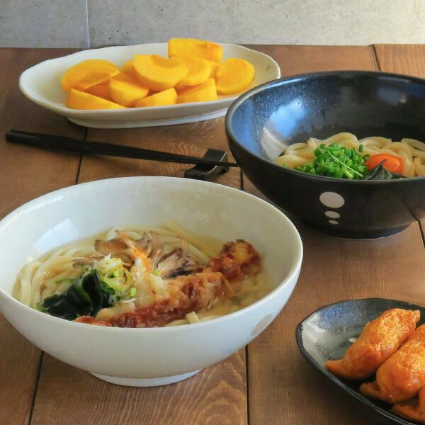 水玉 麺鉢 大