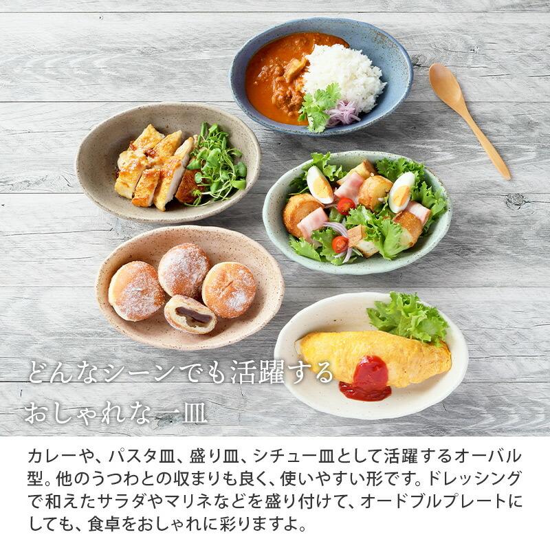カレー皿、パスタ皿のほかにもシチュー皿、オードブルプレートとして使えます