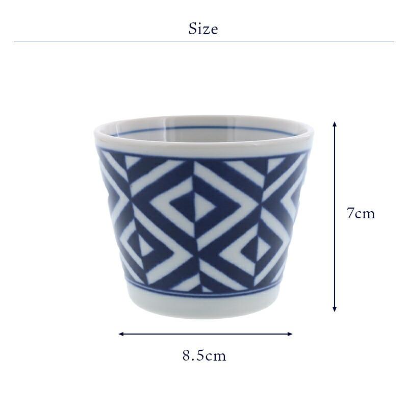 おかず小鉢、プリンカップ、茶碗むしとしても使えるそば猪口 染付