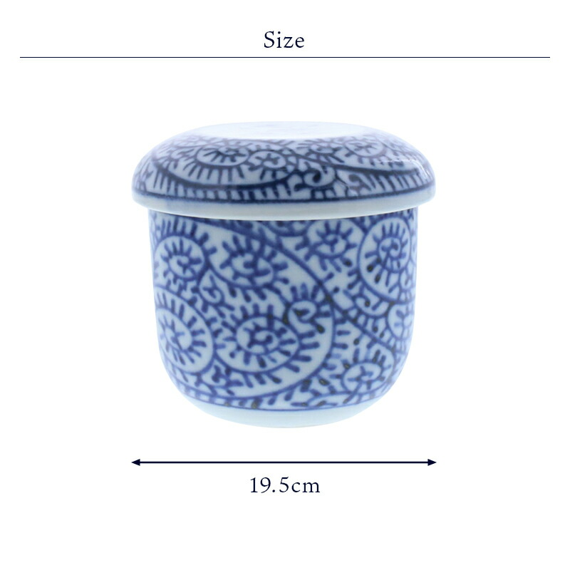 19.5cmの茶碗蒸しは蓋物として普段使いにもおすすめ