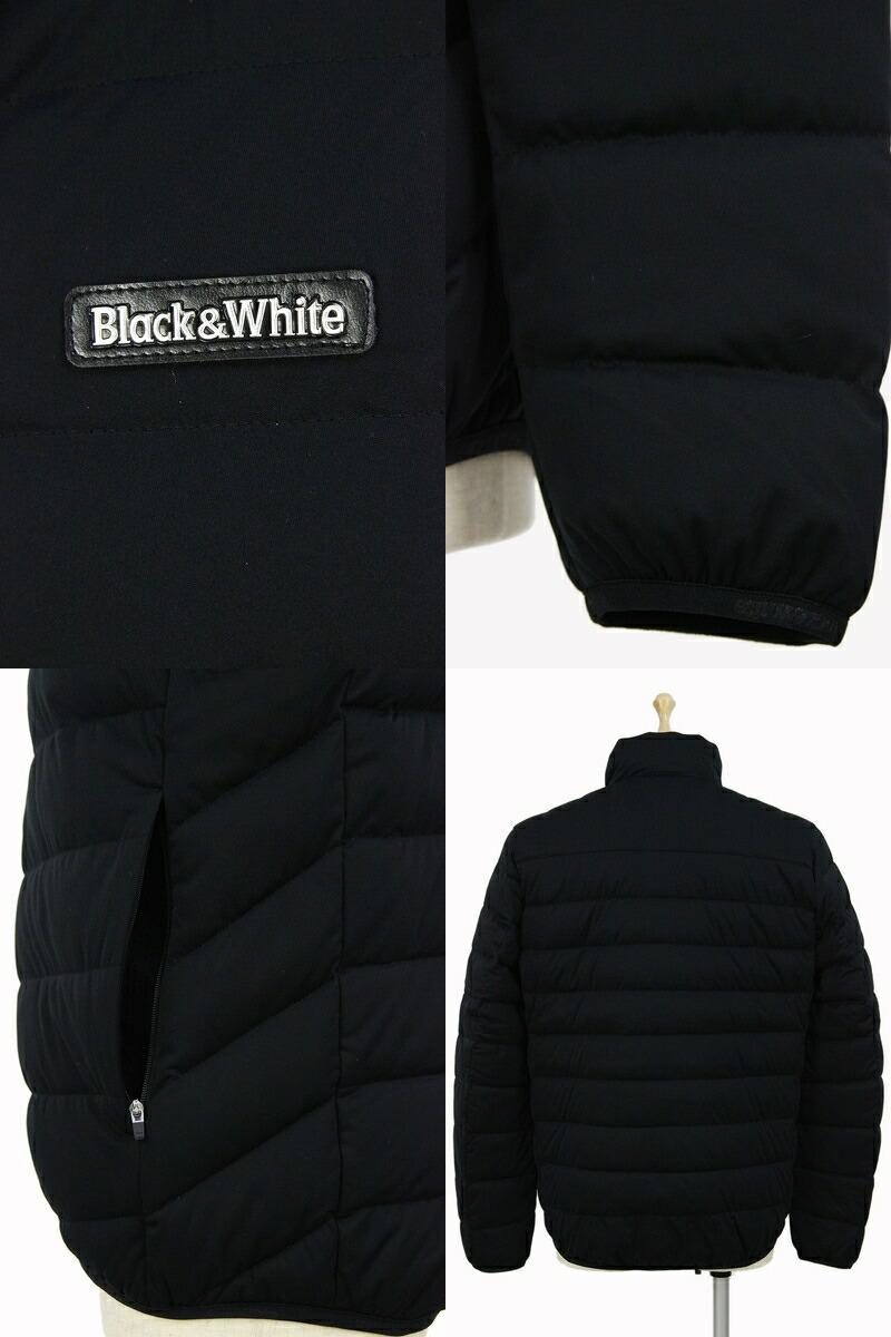 ブラック&ホワイトのブルゾン画像