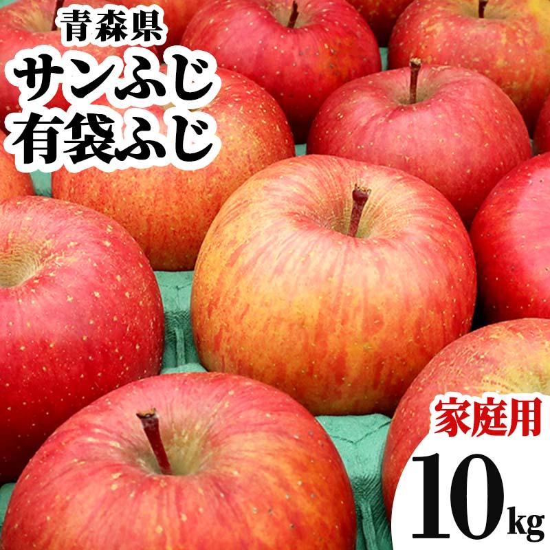送料無料 青森県 さんふじ りんご 訳あり 10kg