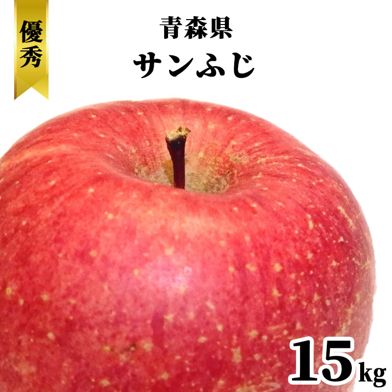 送料無料 青森県 さんふじ りんご ギフト 15kg