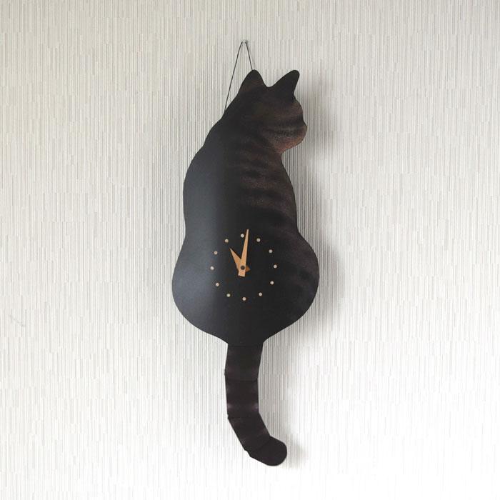 たち吉セレクト 藤井 啓太郎 猫時計 シマ