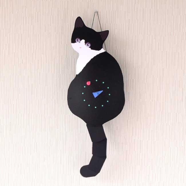 たち吉セレクト 藤井 啓太郎 猫時計 子猫 クロ