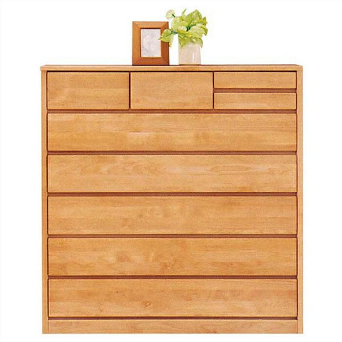 チェスト タンス ハイチェスト 幅120cm 6段 完成品 北欧 アルダー無垢 木製家具 リビング収納 国産 ハイタイプ