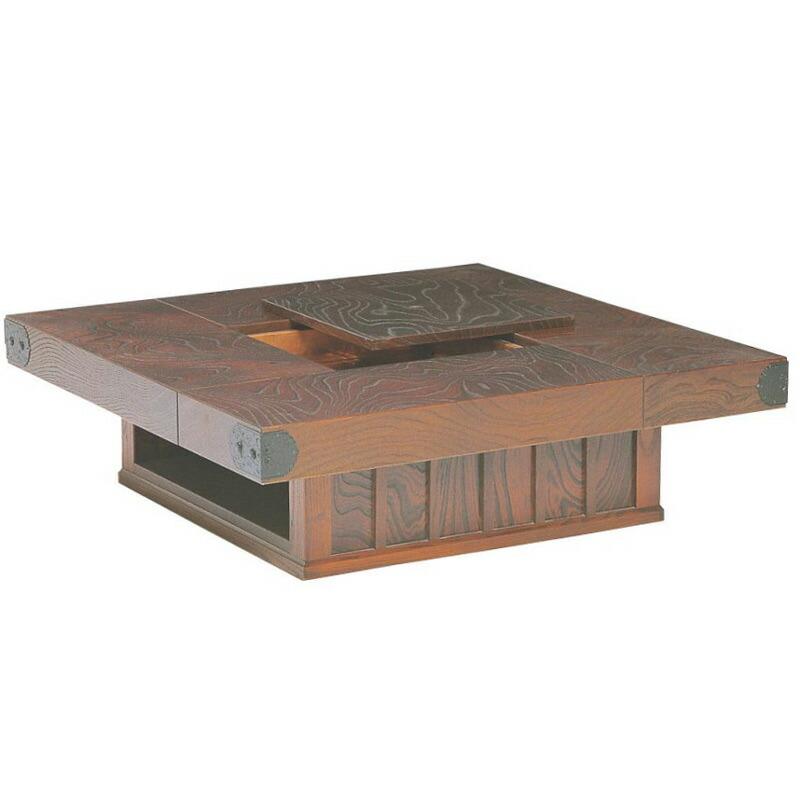 筑後民芸 幅99cm 火鉢 だんらん 座卓 テーブル 和風モダン 囲炉裏