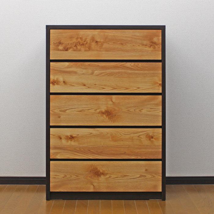 ハイチェスト 北欧 完成品 幅80cm 5段 洋服収納 リビングチェスト 整理タンス 木製 木目調 箪笥 日本製