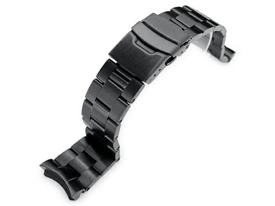 22mm TAIKONAUT メタル時計バンド ステンレススチール オイスター ブレスレット PVDブラックfor SEIKO DIVER
