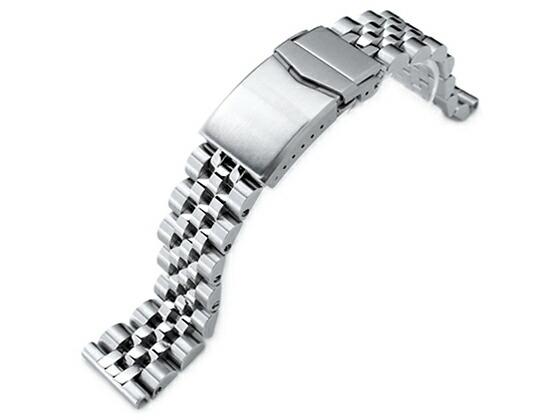 20mm TAIKONAUT メタル時計バンド ステンレススチール ANGUS ジュビリー ブレスレット Vクラスプ