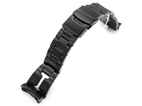 22mm TAIKONAUT メタル時計バンド ステンレススチール RAZOR ブレスレット PVDブラックfor SEIKO DIVER