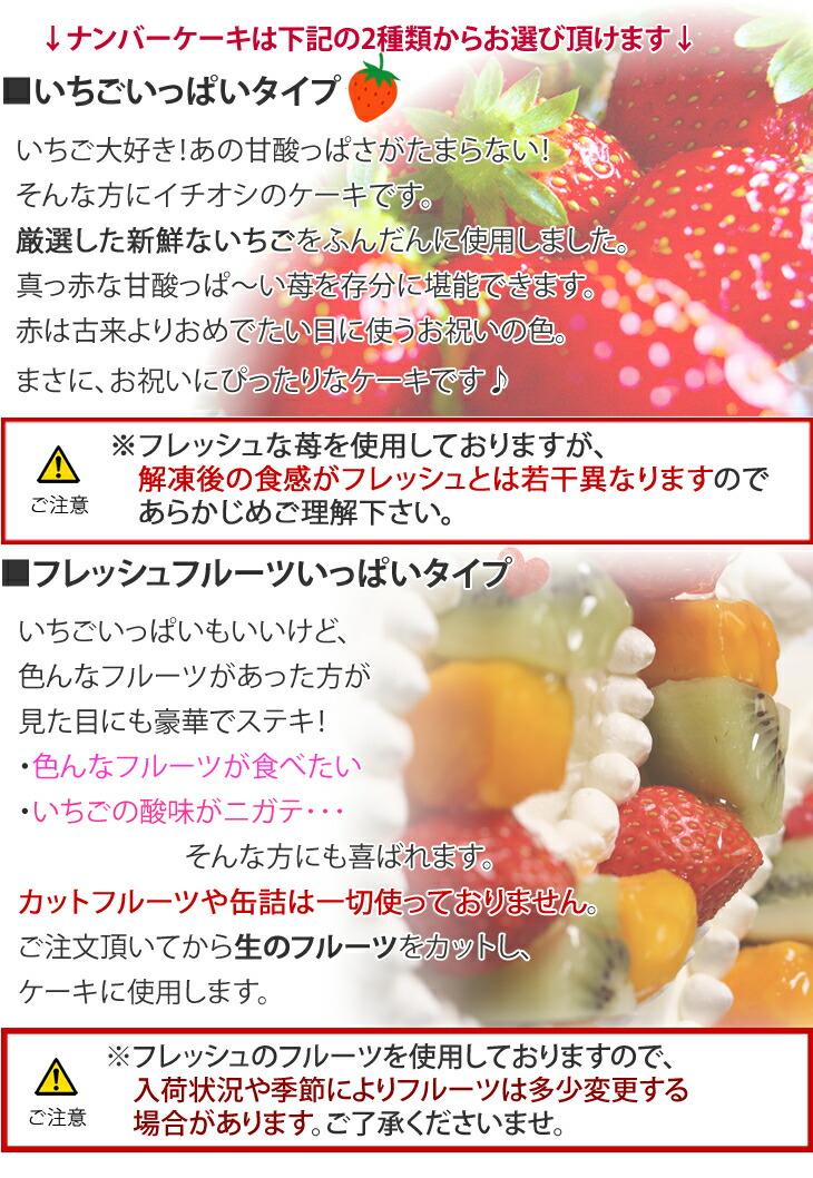 フルーツいっぱいといちごいっぱいの2タイプ