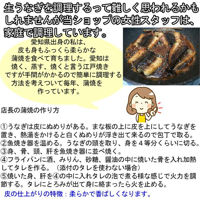 うなぎ ウナギ 鰻 愛知県三河産 バーベキュー BBQ 家庭での焼き方