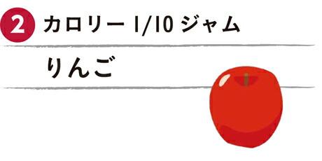 カロリー1/10ジャム りんご