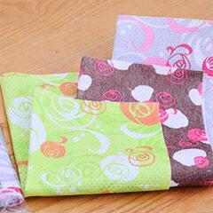 使い切りおしぼり リトルローズグリーン丸型・ピンク丸型・ブラウン丸型 3色セット