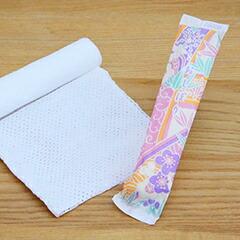 使い切りおしぼり はんなり丸型和紙