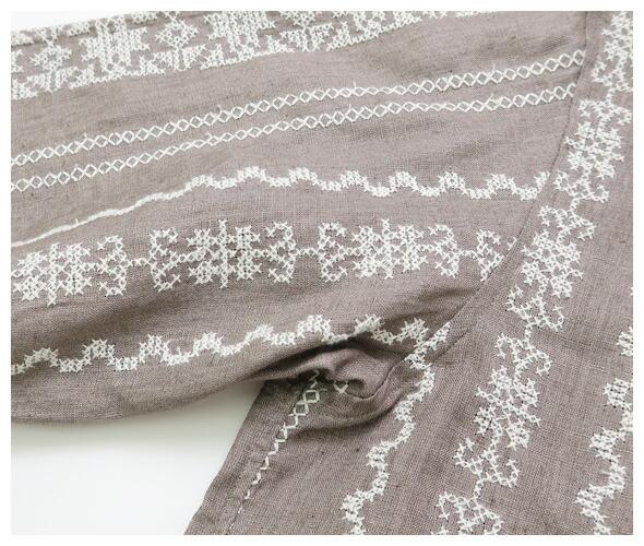 HAVERSACK(ハバーサック) エンブロタリーノーカラーシャツ 821829の商品ページです。