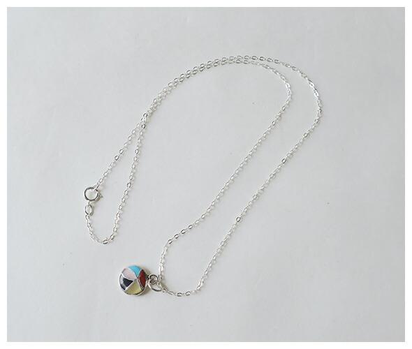 Indian Jewelry インディアンジュエリー ZUNI NECKLACE INLAY CIRCLE ズニ族 ネックレス インレイサークル