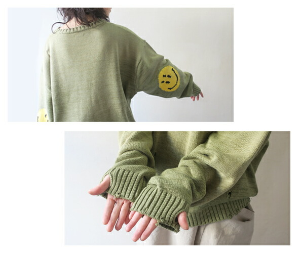 KAPITAL キャピタル 7Gウールスマイリークルーセーター