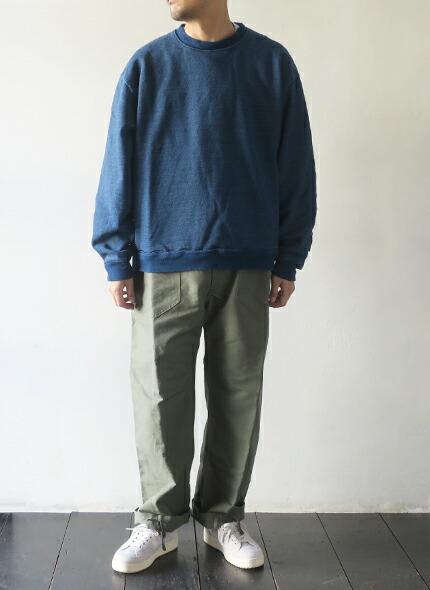 KAPITAL キャピタル インディゴ裏毛×キルト 2TONE BIG スウェット