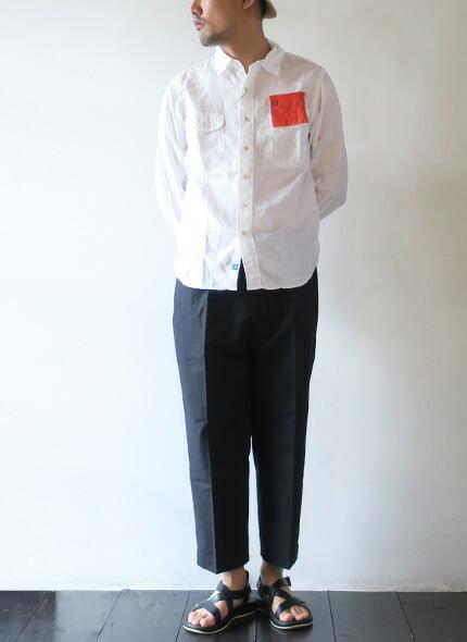 KATO' BASIC(カトーベーシック) シャンブレーリネン ワークシャツ BS410077の商品ページです。