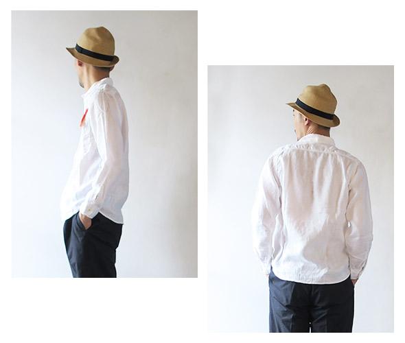 KATO' BASICのシャツのモデル着用画像