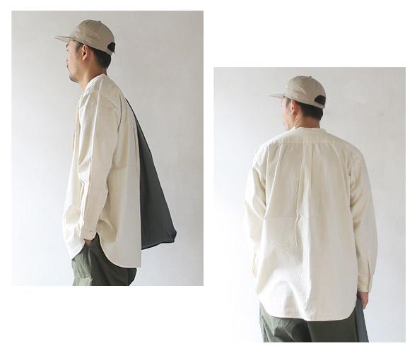 KATO` カトー バンドカラーワイドシャツ