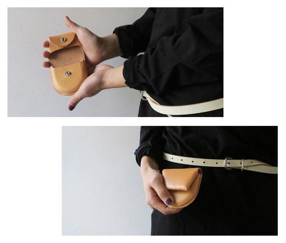 Hender Schemeのコインケースのモデル着用画像