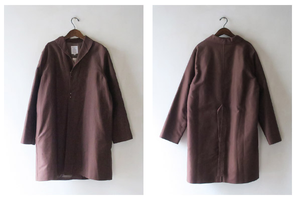HERVIER PRODUCTIONS S.A. エルヴィエ・プロダクションズ Robe Coat - French Moleskin