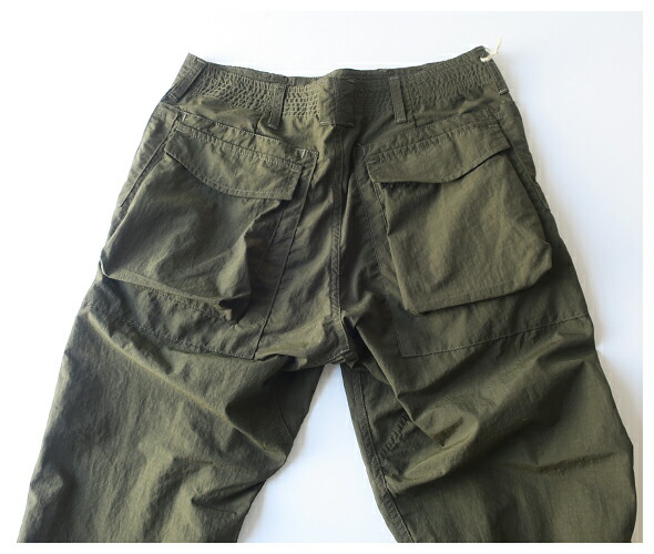 SASSAFRAS ササフラス Digs Crew Pants 4/5 - Nylon Ripstop パンツ