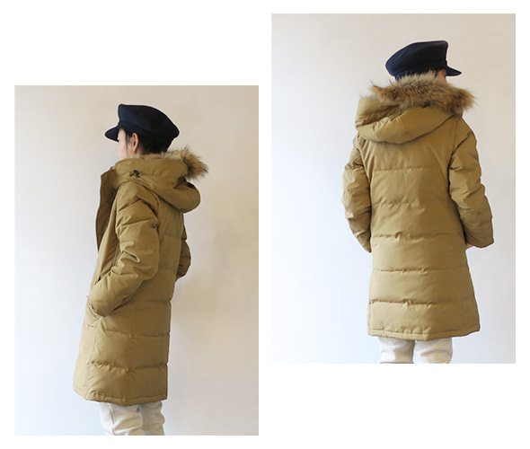 DANTONのコートのモデル着用画像