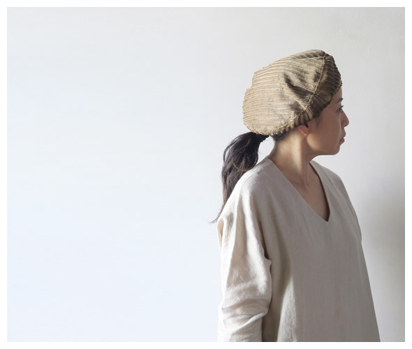 HOLLINGWORTHCOUNTRYOUTFITTERSのベレーのモデル着用画像
