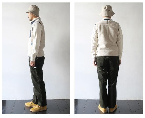 patagoniaのベストのモデル着用画像