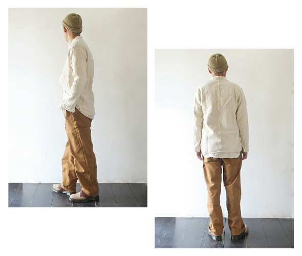 TENDER Co. BASTE POCKET SHIRT COTTON CHAIN DYED テンダーコー ベイストポケットシャツ