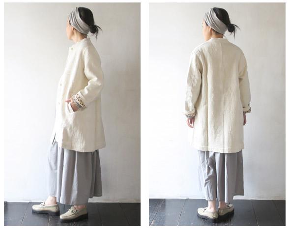 TIGRE BROCANTEのコートのモデル着用画像