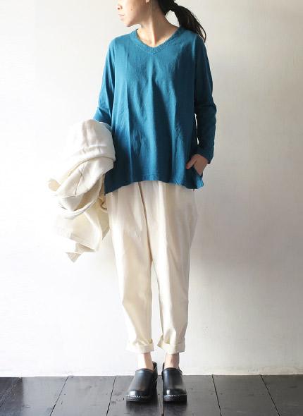TIGRE BROCANTE(ティグルブロカンテ) ムライト天竺レディース Vネック長袖Tシャツ TLO-88-TBC10の商品ページです。