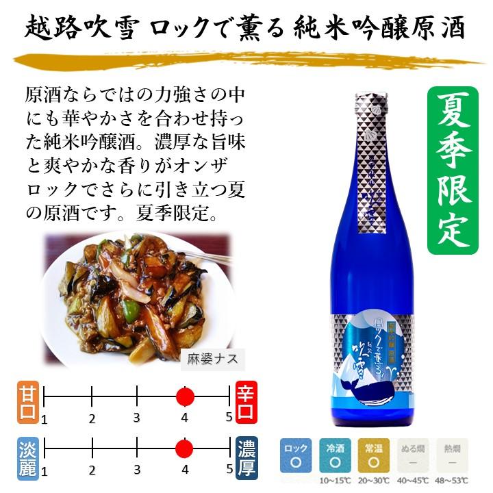越路吹雪 ロックで薫る 純米吟醸原酒